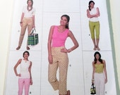 """Fitted Tapered Pants Capri's sewing pattern Butterick 5614 Size 6 8 10 12 Waist 23 24 25 26.5"""" UNCUT FF"""