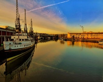 The Balmoral, Boat, Sunrise, Bristol, Bristol Harbourside, Harbour, Fine Art, Photograph, Bristol Photos, England, UK, Reflection, Sky
