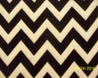 Navy Chevron Fabric