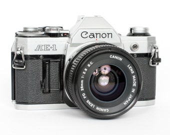 Canon AE-1 with 28mm f/2.8 Lens