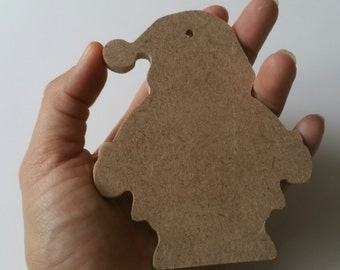 MDF Christmas shapes - Father Christmas, Santa, blank ready to decorate Christmas tree decorations, craft supplies, kids crafts