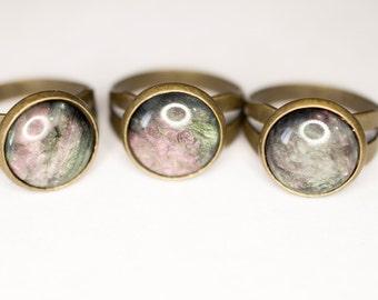 Purple & Green Swirl Ring