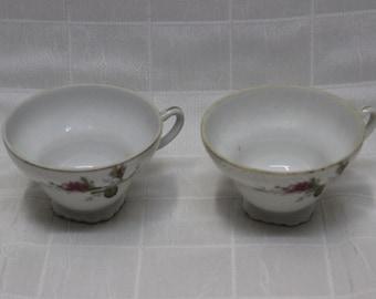 2-Piece Set   Floral-Themed Tea Cups