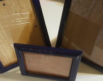 Blue, dark blue, Picture Frames
