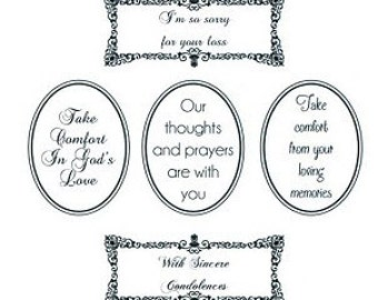 Phill Martin Sentimentally Yours Stamps -Words of Sincerity Collection