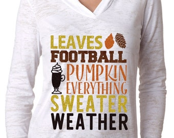 Leaves football pumpkin everything sweater weather