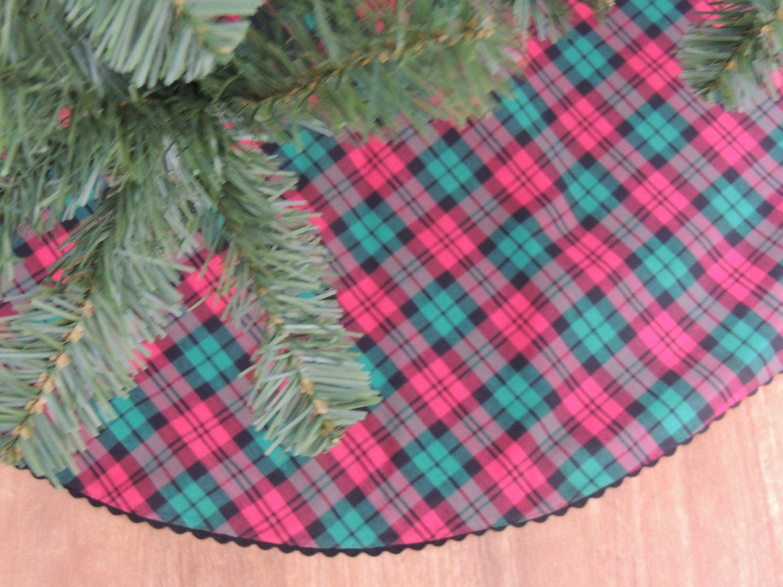 Christmas Tree Tree Skirt Plaid Christmas