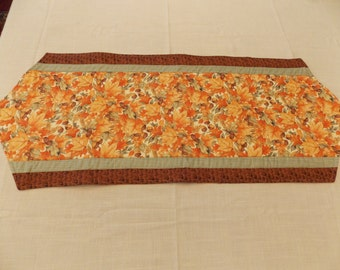 Autumn Table Runner with Leaves and Acorns