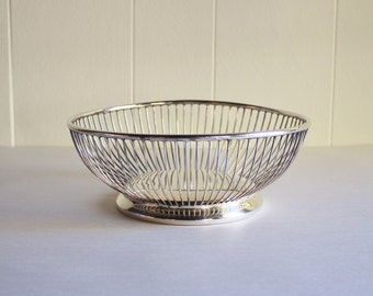 Vintage Wire Silver  Breadbasket by Eales 1779
