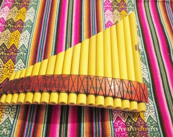 Pan Flute 18 Pipes Nazca Design -Tunable - Item in USA - Case Included