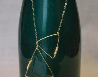 Interlocking Triangles Gold Chain Necklace