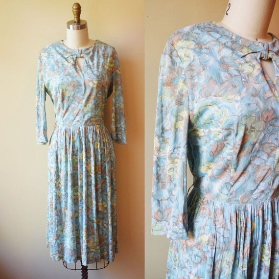 1960s floral key hole dress // Henry Allen // vintage dress