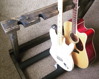 Wooden Guitar Rack for 5 (ebony)