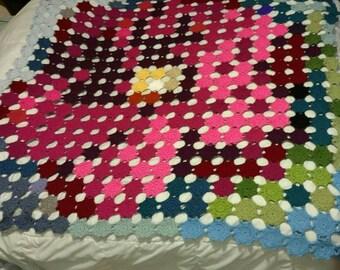 Crocheted Rose Blanket