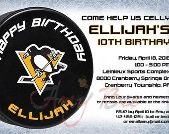 Pittsburgh Penguins NHL Invitation - Printable