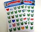 Gummibär (The Gummy Bear) Emoji Stickers ~ 2 Sheets ~ 60 Stickers