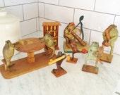 Taxidermy Frogs, Mexican Souvenir, Bar Decor, Vintage Frog Decor, Vintage Mexico, Souvenir Mexico Frog