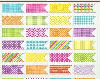 MEGA SALE 28 Digital Flags- Candy Store - Clip Art ClipArt Scrapbooking Commercial G7533