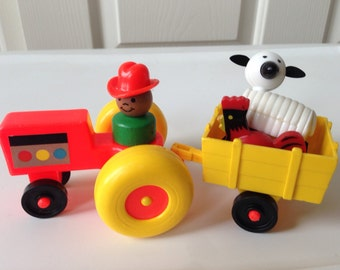 Fisher Price Tractor and Farmer Boy