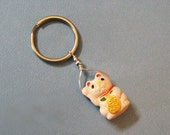 Maneki-Neko Key Ring - Good Luck Cat - Keychain, Key Fob