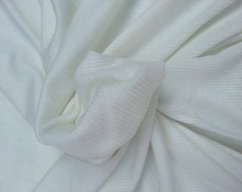 Ivory Tencel Spandex 3x3 Rib Sweater Knit Fabric by Yard Cashemere Feel 9/18/14