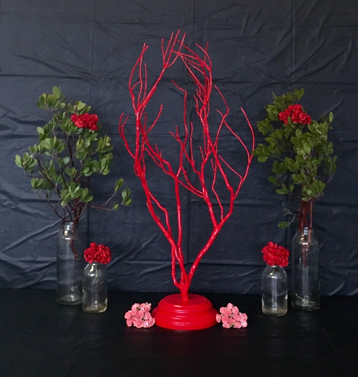 Manzanita tree centerpieces branch by