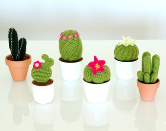 PATTERN: Gardening with Crochet cactus and succulents amigurumi