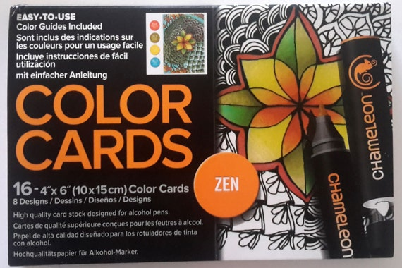 Zen color cards by Chameleon, high quality cards to color for art projects