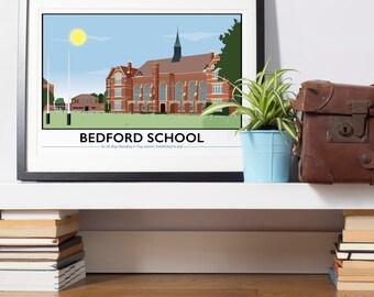 Bedford Boys School, Giclee Print