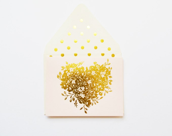 Lovely Gold Sweetheart in Blush Card