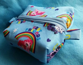 My Little Pony inspired box zipped pouch