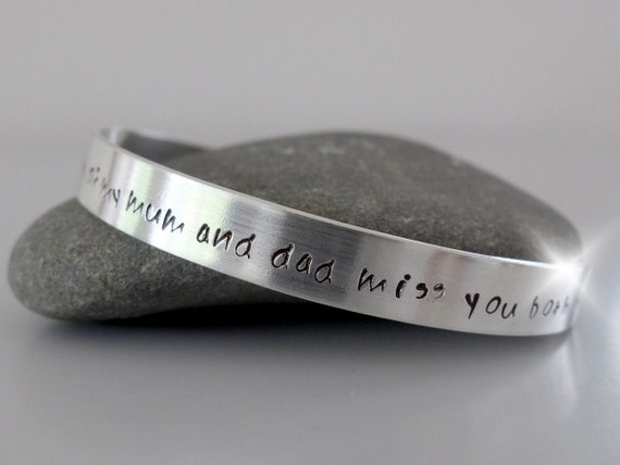 Religious Bangle with Message, Memorial Bangle, Adult Holy Communion Bangle, Baptism Bangle, Personalised Bangle with Names