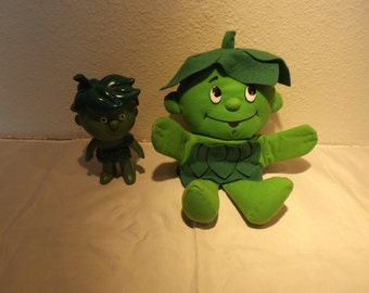 Jolly Green Giant Hand Sprout Puppet and Plastic Figure