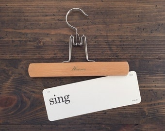 vintage flash card • sing | Dick and Jane flashcard