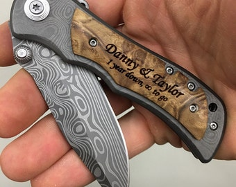 Knife Wedding Gift, Unique Wedding Gift Ideas, Personalized Pocket Knives, Groomsmen Gift, Anniversary Gift, Groomsmen Gifts Under 20