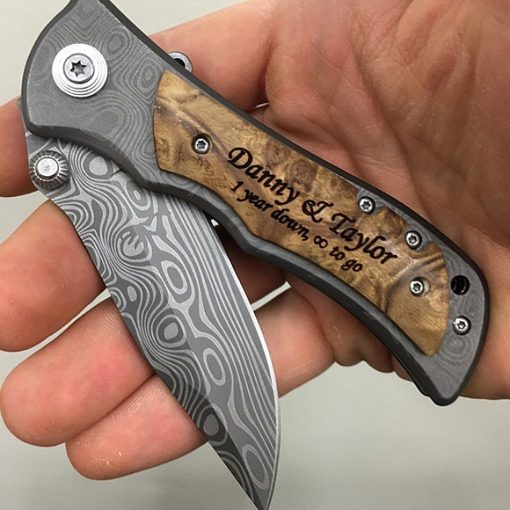 Wedding Present Knives : Knife Wedding Gift, Unique Wedding Gift Ideas, Personalized Pocket ...