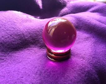 40mm Pink Crystal Ball