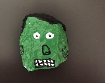 Frankenstein Face Painted Rock, Second Edition