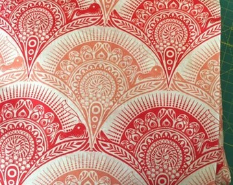 VOILE - HTF - Tula Pink - Prince Charming - Snail Scallop in Coral VOILE 1 yard or more