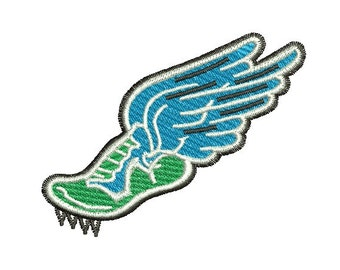 Track and field embroidery design
