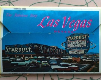 Vintage 1950's Las Vegas postcards - booklet of 12 images