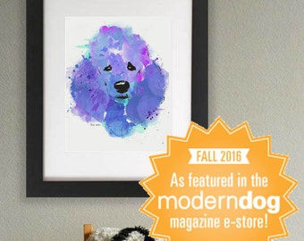 Poodle || Leia the Poodle || Standard Poodle || Poodle Art || Dog Art || Watercolor Dog || Dog Art Print