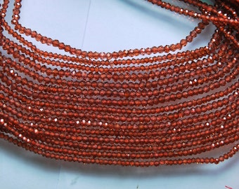 AAA Diamond Sparkle 13.5 Inch Strand, Very Rare, Finest Natural Mozambique Faceted Rondelles 2.5mm