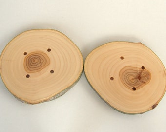 3 XXL   Wood Buttons - Branch Buttons - Slim Handmade Wood Buttons - Extra Large  White Tree branch buttons - 4 1/2 inches in diameter.