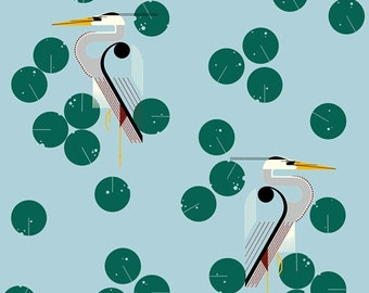 Herondipity - Charley Harper Maritime - 100% Organic Cotton - Birch Fabrics - 1 yard