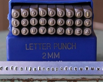 2mm Kristen - Playground Font Alphabet Letter Lowercase Stamp Set - Metal Stamp Set - Metal and Jewelry Design Tool - SGE-11L