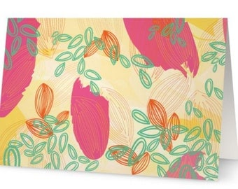 Tropical Greeting Card Set of 5 - Blank inside