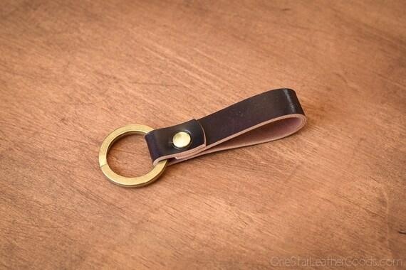 Key fob & keyring, keychain - burgundy #8 shell cordovan