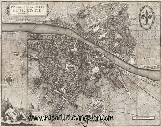 Gran lienzo mapa de Italia mapa de Florencia Italia mapa del