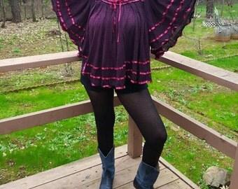 Hand Dyed Stevie Nicks 70s Blouse